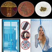 Сетка на дверь от комаров на магнитах, 210х100 с рисунком