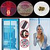 Сетка на дверь от комаров на магнитах, 210х100 с рисунком, фото 4