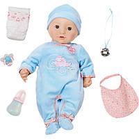 Кукла пупс Baby Annabell Беби Анабель братик 10 версия интерактивная оригинал Brothe Zapf Creation 7
