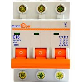Автоматический выключатель ЕСОНОМЕ, 3Р, С, 6А, (04-01-31) шт.
