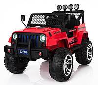 Детский электромобиль джип внедорожник  T-7811 RED ***