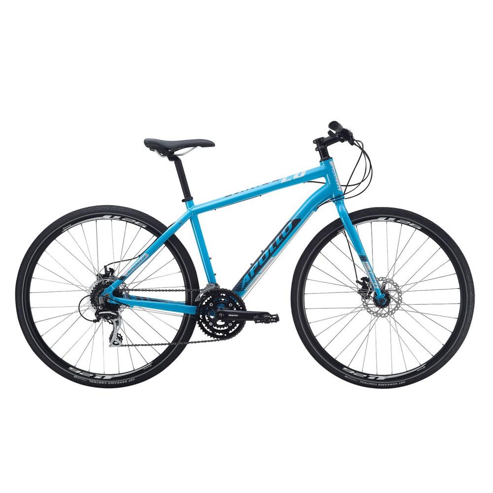 "Велосипед 28"" Apollo Trace 20 HI VIZ рама - M 2017 Gloss Blue/Gloss Charcoal/Reflective"