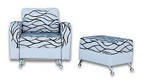 Кресло-кровать Оскар + пуф