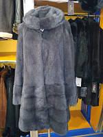 Шубка норковая серая  (шуба пальто)