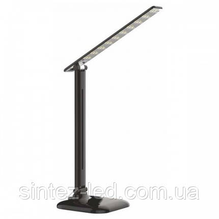 Светодиодная настольная лампа SEAN SL-5010-9W 4000K черная, сенсор, диммер, Код.58827, фото 2