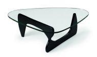 Кофейный стол Isamu Noguchi, черный / Стол журнальный Ногучи, столешница стекло 19 мм