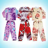 Пижама махровая для девочек кофта штаны