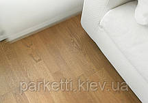 Паркетна дошка Focus Floor Дуб Lodos 3-смуговий, легкий браш, світло-коричневий лак