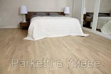 Паркетна дошка Focus Floor Дуб Ostro White 3-смуговий , білий матовий лак