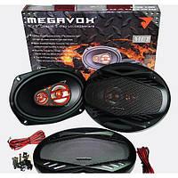 Автомобильная акустика колонки MEGAVOX MET-9674 6x9 овалы (300W) 3х полосные