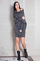 Платье женское, темно-серое, мультисезон P-STYLE1-2