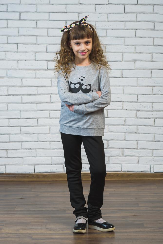 Детский свитшот светло-серый