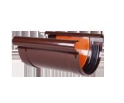 З'єднувач жолоба пластиковий коричневий ПП