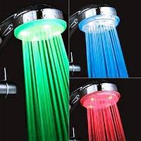 Насадка на душ подсветка для воды 4 цвета турбина