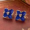 Сережки Сині квіти
