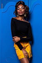 Черная блузка | Синтия jd, фото 2