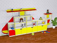 Cтенка для детского сада ВЕРТОЛЁТ (3700*400*1700h)