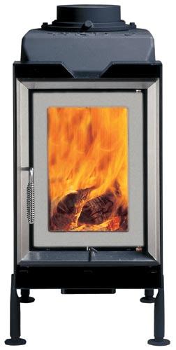 Классическая печь Brunner HKD 6.1 steel frame/double-glazing/silver/grey