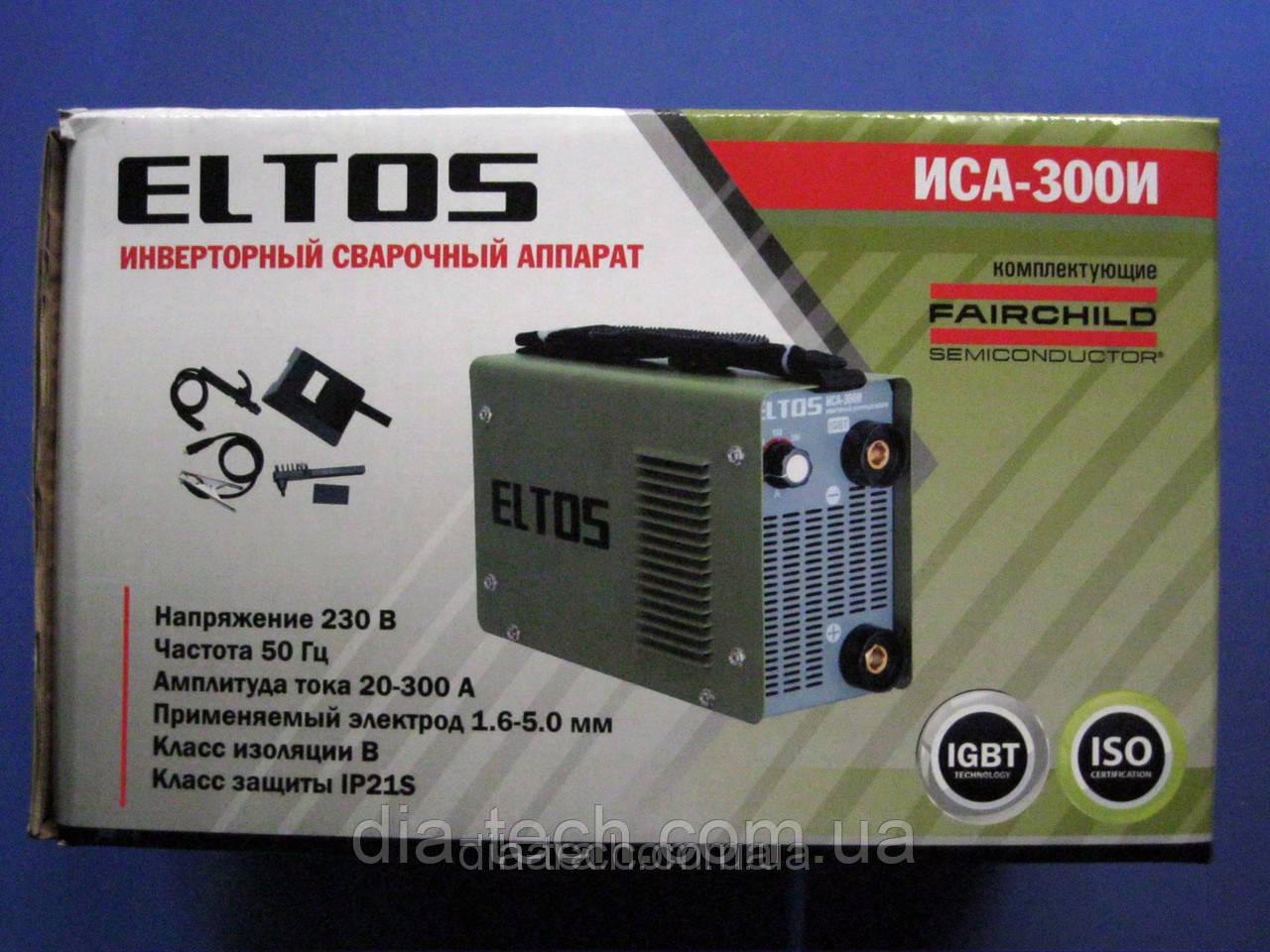 Інверторний зварювальний апарат Eltos ІСА-300И
