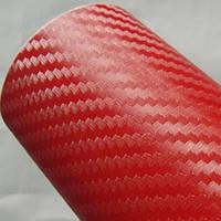 Карбоновая пленка с 3D структурой с микроканалами красная