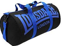 Спортивная сумка lonsdale london, сумка лондон черная/синий ремень