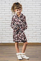 Халат  махровый детский леопард