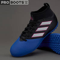 Детские сороконожки Adidas ACE 17.3 Primemesh TF Junior Black Blue