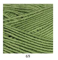 Yarnart Jeans Plus - 69 зеленый