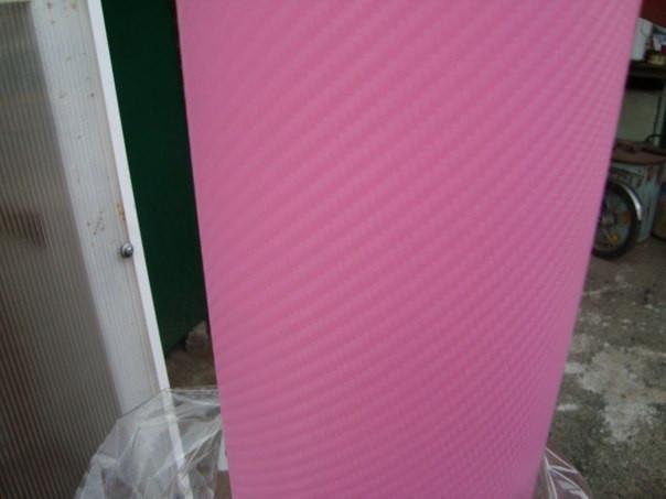 Карбонова плівка з 3D структурою з микроканалами рожева