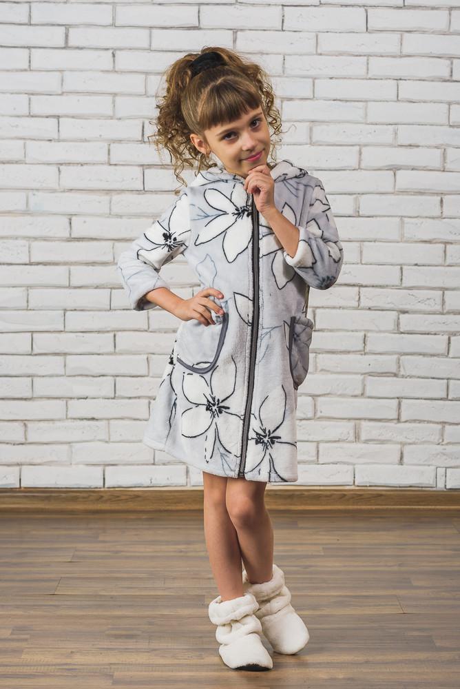 5fb042049f72a Махровый детский халат на молнии Лилии, цена 377 грн., купить в Кременчуге  — Prom.ua (ID#371300465)