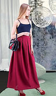 Женская юбка в бордовом цвете