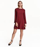 Бордовое платье H&M, фото 1