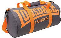 Спортивная сумка lonsdale london, сумка лондон серый/оранжевые ручки