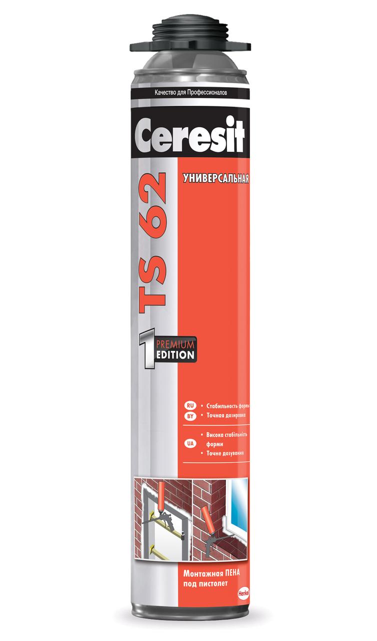 Пена монтажная универсальная Ceresit TS 62 (Профессиональная), 750 мл