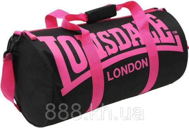 Спортивная сумка lonsdale london, сумка лондон черный/розовые ручки