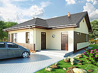 Проект одноэтажного дома Hd27