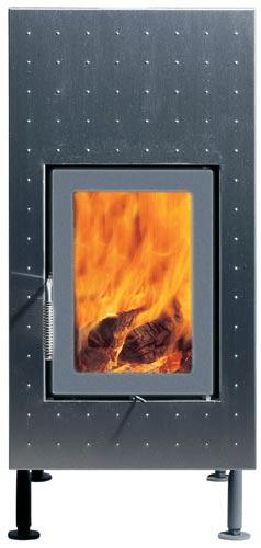 Классическая печь Brunner HKD 6.1 steel front plate/double-glazing/silver/grey
