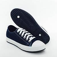 Женские кеды джинсовые синие (Код: СК-110)