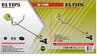 Бензокоса мотокоса ELTOS БГ-4300 Професіонал (4300 Вт, 3 ножа в комплекті)