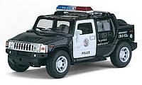 Модель автомобиля Hummer H2 SUT 2005 Police в масштабе 1 : 40 (KINSMART KT5097WP)