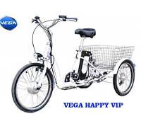 Трехколесный электровелосипед HAPPY VIP (350 Вт)