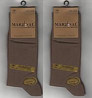 Носки мужские демисезонные Marjinal шёлковый хлопок с эластаном, антибактериальные, бежевые, 1805