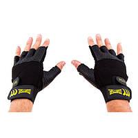 Перчатки для фитнеса Matsa Sareno MSF-1008 (р.M, черные)