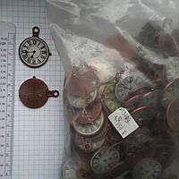 """Метал. подвеска """"Часы"""" медь, 150 шт в уп."""