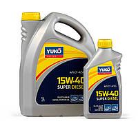 Минеральное моторное масло YUKO SUPER DIESEL 15W-40 (API CF-4/SG) 5л