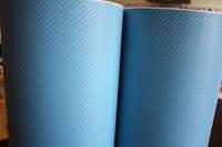 Карбоновая пленка с 3D структурой с микроканалами голубая