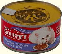Gourmet (Гурме) консерва для кошек Кусочки с форелью и лососем 195 г