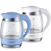 Электрический чайник Maestro 1,8 л (стекло) голубой
