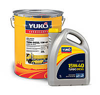 Минеральное моторное масло YUKO TURBO DIESEL 15W-40 (API CD/SF) 20л