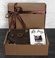 Подарочный набор путешественника Барселона BlankNote BN-set-travel-5 цвет орех